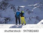 ski austria  glacier. winter... | Shutterstock . vector #547082683