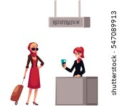 line to airport check in ...   Shutterstock .eps vector #547089913