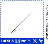 fishing rod icon flat. simple... | Shutterstock .eps vector #547090777