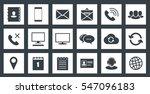 square communications icons set