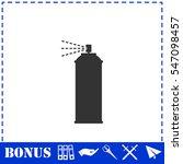 spray icon flat. simple vector... | Shutterstock .eps vector #547098457