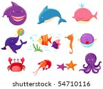 illustration of isolated set of ... | Shutterstock . vector #54710116