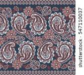paisley seamless border pattern.... | Shutterstock .eps vector #547110037