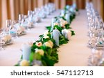 wedding table settings. | Shutterstock . vector #547112713