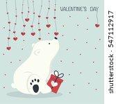 the cover design.little bear is ... | Shutterstock .eps vector #547112917
