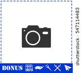 camera icon flat. simple vector ... | Shutterstock .eps vector #547114483