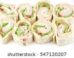tortilla deli wrap rolls with... | Shutterstock . vector #547120207