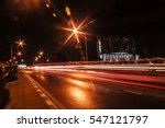 Light Trails At Night On The...