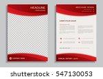 red flyer design template  ... | Shutterstock .eps vector #547130053