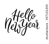 hello new year quote. simple... | Shutterstock .eps vector #547131343