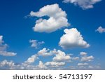 Background With Clouds On The...