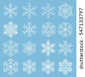 vector snowflake flat design... | Shutterstock .eps vector #547133797