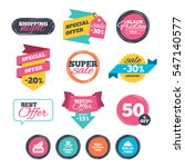 sale stickers  online shopping. ... | Shutterstock .eps vector #547140577