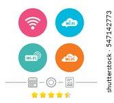 free wifi wireless network... | Shutterstock .eps vector #547142773