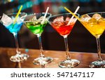 multicolored cocktails at the... | Shutterstock . vector #547147117