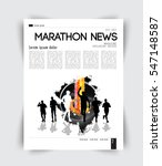 sport layout magazine  vector | Shutterstock .eps vector #547148587