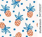 pineapples on the white... | Shutterstock .eps vector #547150237