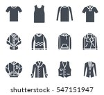 top clothes silhouette icon | Shutterstock .eps vector #547151947