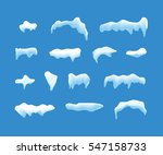 ice or snow blue vector caps... | Shutterstock .eps vector #547158733