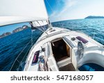 sailing vessel moves in an open ... | Shutterstock . vector #547168057