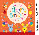happy birthday kids greeting... | Shutterstock .eps vector #547170157