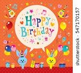 happy birthday kids greeting... | Shutterstock .eps vector #547170157