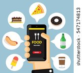 online ordering and fast food... | Shutterstock .eps vector #547174813