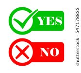 yes and no check marks. vector... | Shutterstock .eps vector #547178833