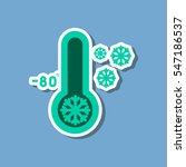 paper sticker on stylish...   Shutterstock .eps vector #547186537