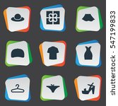 set of 9 simple garments icons. ...