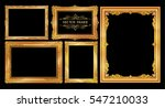 set of gold photo frames with... | Shutterstock .eps vector #547210033