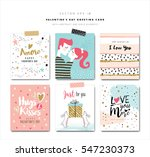 set of valentine's day greeting ... | Shutterstock .eps vector #547230373