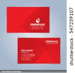 red and white modern business... | Shutterstock .eps vector #547259107