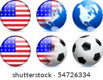 united states flag button with... | Shutterstock .eps vector #54726334