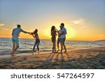 group of happy young people... | Shutterstock . vector #547264597
