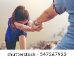 the man gives helping hand... | Shutterstock . vector #547267933