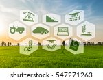 precision agriculture and... | Shutterstock . vector #547271263