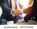 business people shaking hands ... | Shutterstock . vector #547272463