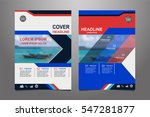 blue and red vector annual... | Shutterstock .eps vector #547281877
