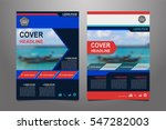 blue and red vector annual... | Shutterstock .eps vector #547282003