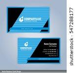 blue and black modern business... | Shutterstock .eps vector #547288177