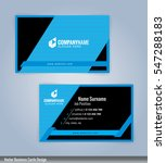 blue and black modern business... | Shutterstock .eps vector #547288183