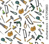 seamless pattern with tools | Shutterstock .eps vector #547290883