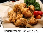 Fried Chicken On Plate