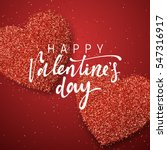 happy valentines day lettering... | Shutterstock .eps vector #547316917
