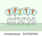 crowd of working little people... | Shutterstock .eps vector #547320343