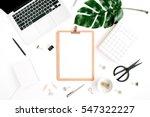 home office workspace mockup... | Shutterstock . vector #547322227