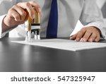 notary public in office... | Shutterstock . vector #547325947