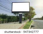 billboard on country road | Shutterstock . vector #547342777