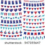 vector bunting decoration set... | Shutterstock .eps vector #547355647